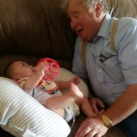 Grandpa (Poppy) Buddy with Gavin